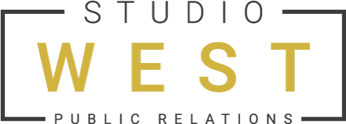 Studio West PR logo in black